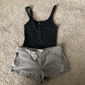 AE grey low rise stretch shorts